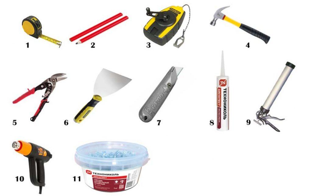инструмент для мягкой кровли