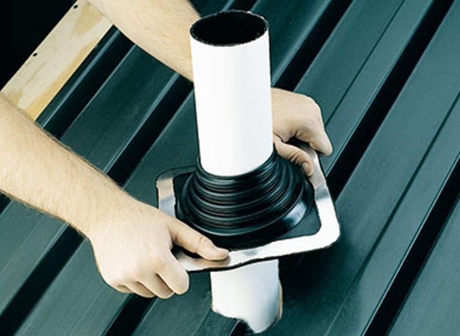 герметизация овальной трубы на крыше